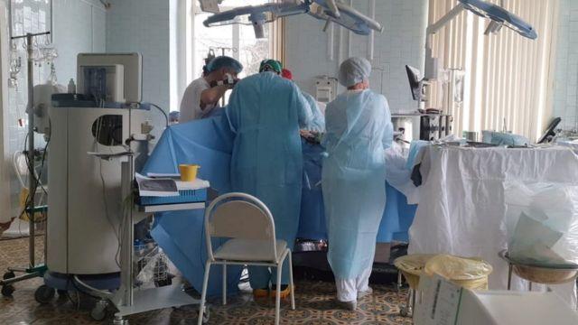 Un quirófano en el hospital.