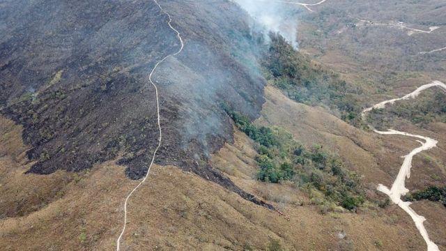 Área deforestada de la Amazonía
