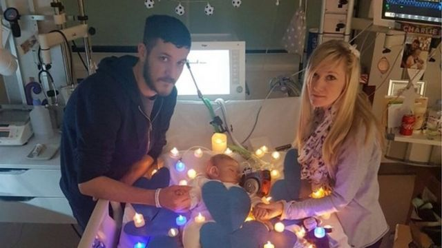 Charlie Gard with his parents