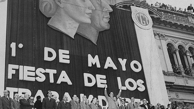 Acto del Día de los Trabajadores en Argentina