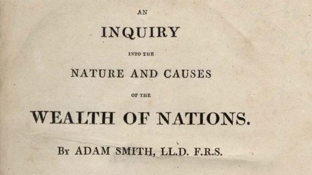 """""""La riqueza de las naciones"""" de Adam Smith."""