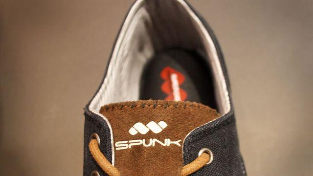 Shoe with Spunk logo