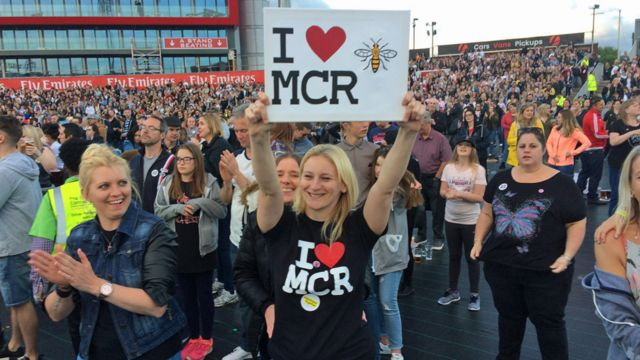 Fans at One Love Manchester