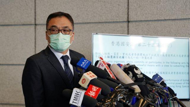 """警务处国安处高级警司李桂华指出,被捕人士声称不论议案内容如何都会否决,这是""""最大的问题""""。"""