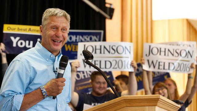 Gary Johnson, candidato del Partido Libertario.