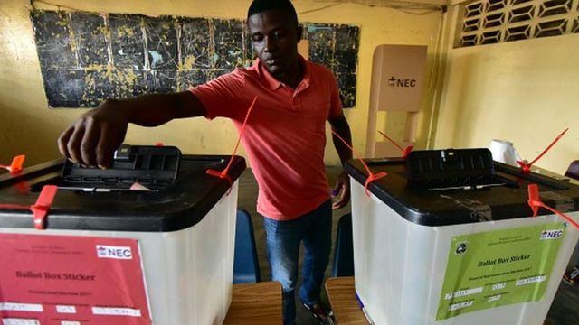 Man vet dey vote for Liberia