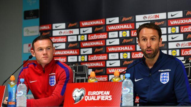 Southgate da Rooney suna dasawa