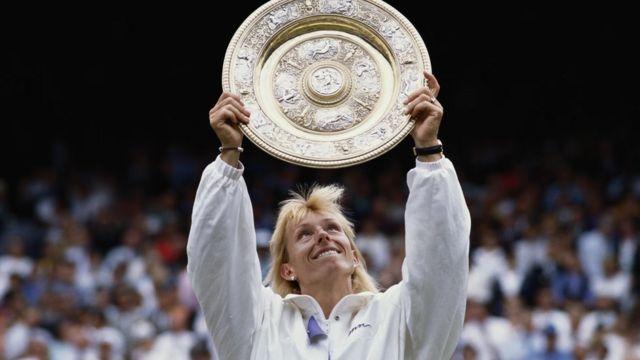 Martina Navratilova gana su noveno título de Wimbledon, en 1990