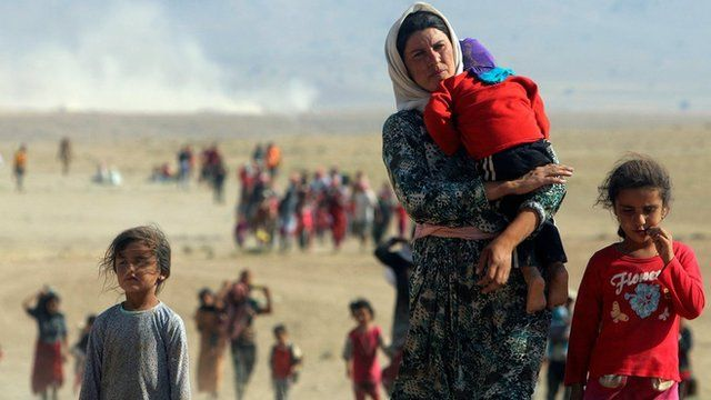 Yazidis fogem do Isis