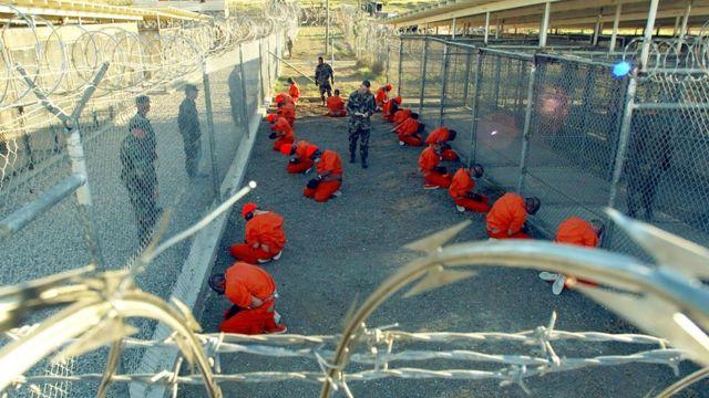 Detenidos en Guantánamo.