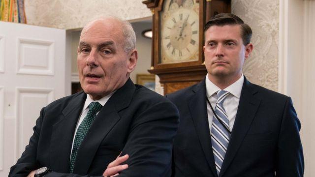 John Kelly (Solda) ve Rob Porter (Sağda)