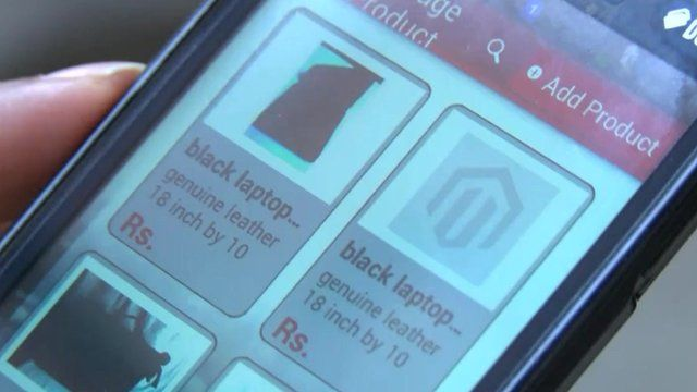Smartphone app offering direct sales to consumers