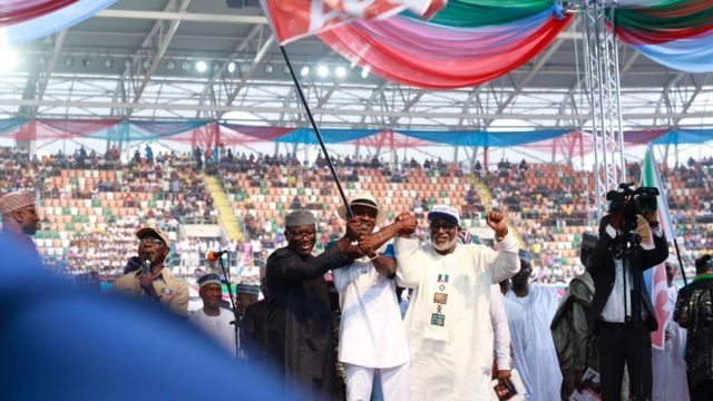 South-south Govnorship candidates for APC collect flag