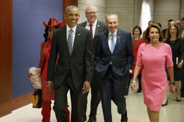 Obama ashitse ahabera inama mu nzu y'inama nshingamateka Capitol Hill