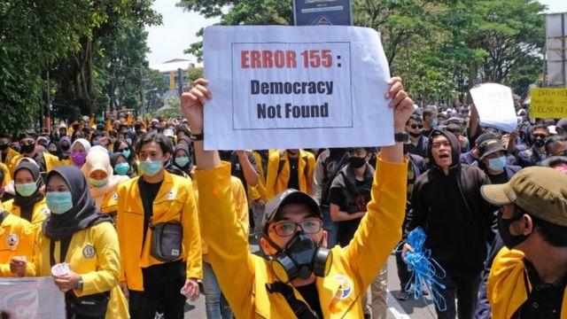 Demonstrasi UU Cipta Kerja