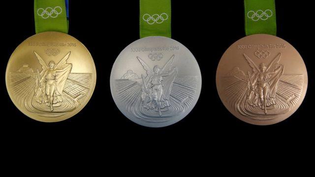 Олимпийские медали на Играх в Рио-де-Жанейро