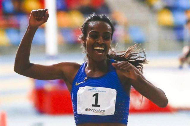 Genzebe Dibaba afise imyanya itaragegwako 1500m, 2000m, 3000m na 5000m