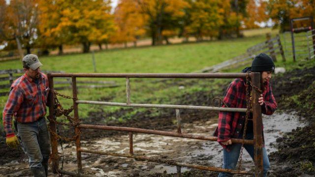Фермеры в Миннесоте на севере США