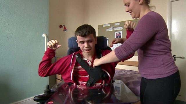Matthew, who has cerebral palsy