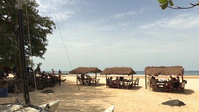 A beach in Sierra Leone