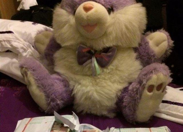 Teddy bear with cash