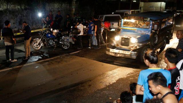 Escena del crimen en Filipinas