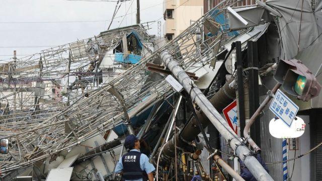 Tajfun Jebi u Osaki,