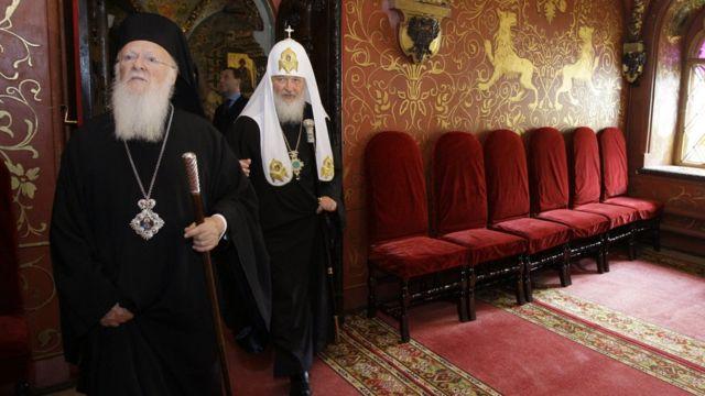 Встреча патриарха Варфоломея и патриарха Кирилла в 2010 году в Москве