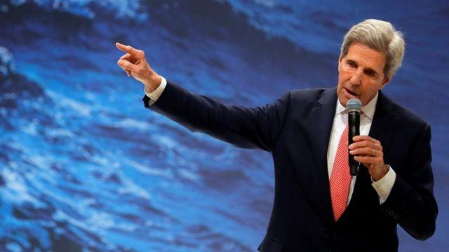John Kerry na Conferência do Clima de Madri em dezembro de 2019