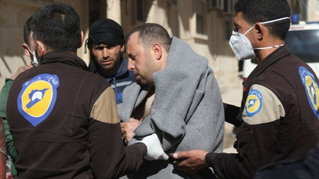 Afectado de un ataque químico en Khan Sheikhun, en el noroeste de Siria.
