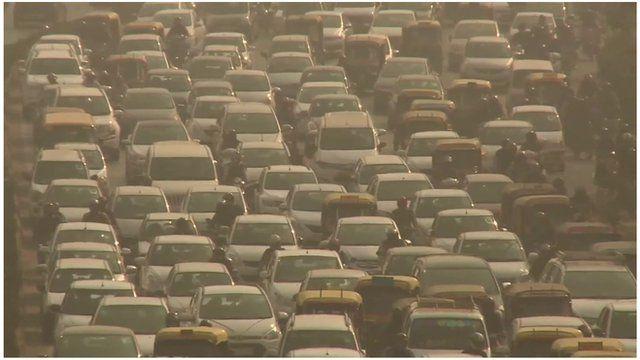 Delhi pollution from traffic