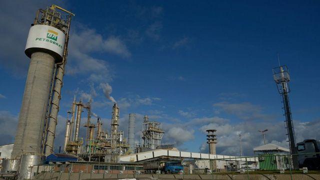 Refinaria da Petrobras vista de fora