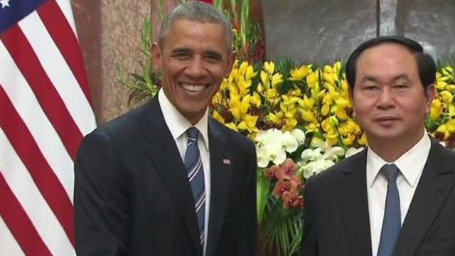 Barack Obama and Tran Dai Quang