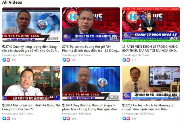 Các livestream trên Facebook của ông Lê Dũng Vova