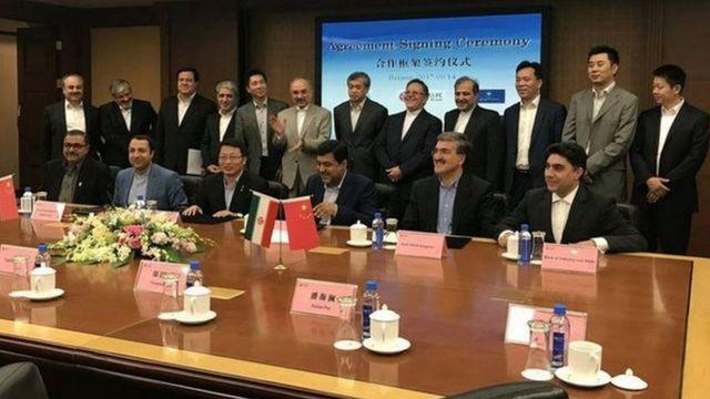 مراسم امضای توافقنامه میلیارد دلاری ایران و چین