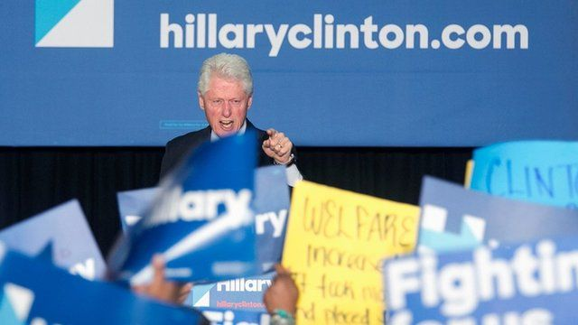 Bill Clinton spars with Black Lives Matters protesters