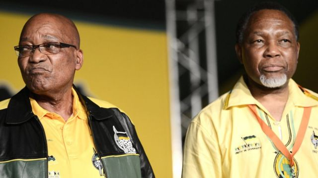 Jacob Zuma and Kgalema Motlanthe