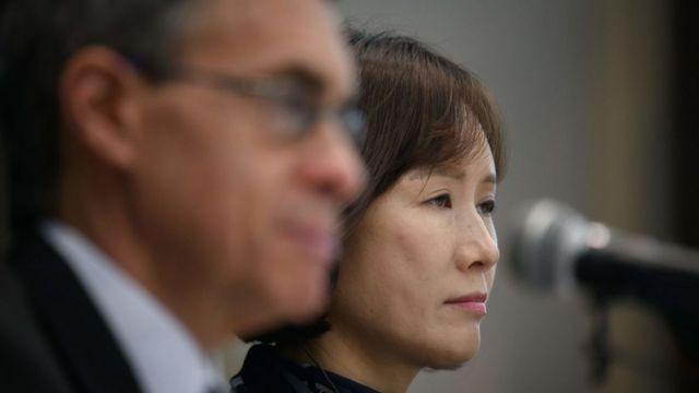 군대와 장마당에서 생활했던 탈북민 출신의 이소연 뉴코리아여성연합 대표도 목격한 성폭력에 대해 증언했다