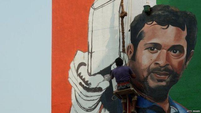 सचिन तेंडुलकरचं फॅननं भिंतीवर रेखाटलेलं चित्र