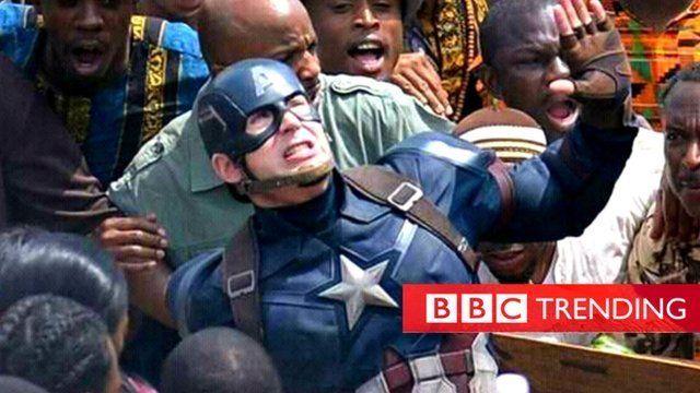 Captain America in Nigeria