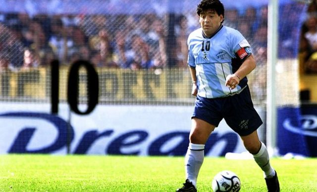 Diego Maradona in 2001