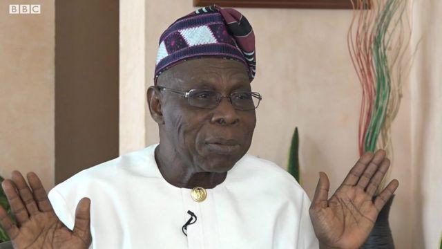 Aarẹ Naijiria tẹlẹ ri Olusegun Obasanjo