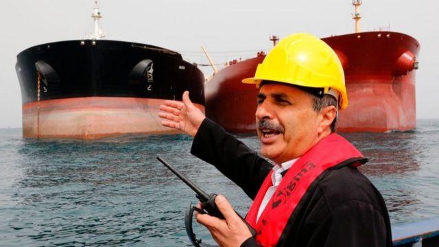 Buques petroleros en aguas del Golfo Pérsico en una imagen de archivo