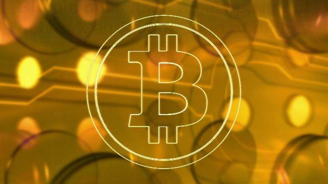 A Bitcoin symbol