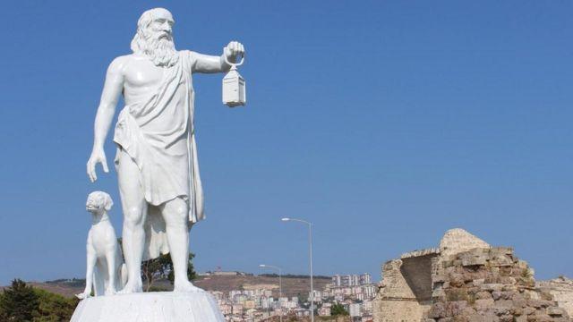 Sinop'taki Diyojen heykeli