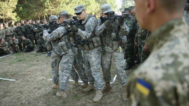 совместные учения на Украине