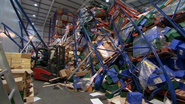 Collapsed shelving