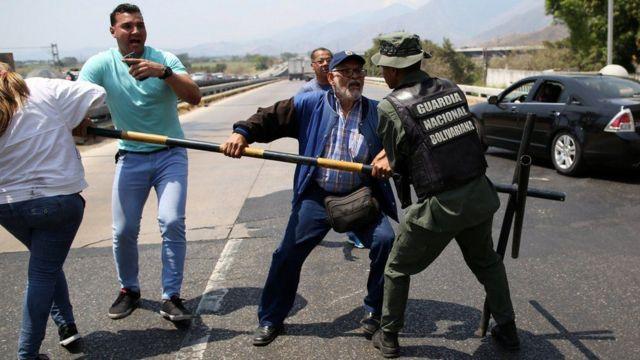 ဗင်နီဇွဲလား နယ်စပ်မှာ ဖြစ်နေတဲ့ ရုန်းရင်းဆန်ခတ် အခြေအနေတခု