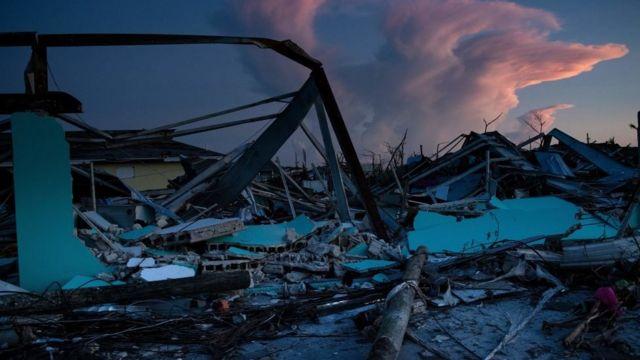Devastación en las Bahamas
