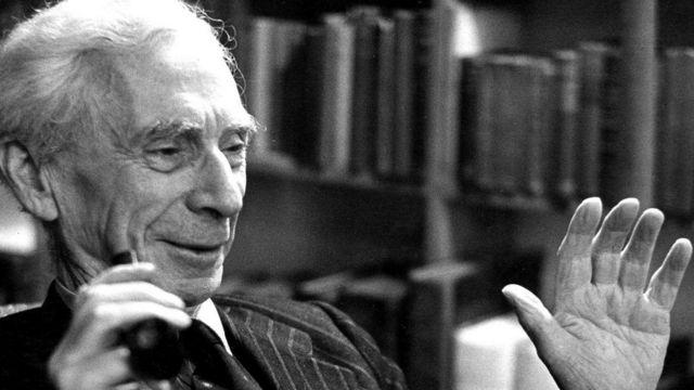 O filósofo Bertrand Russell
